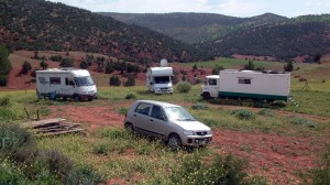 Wohnmobil nahe Ouzoud